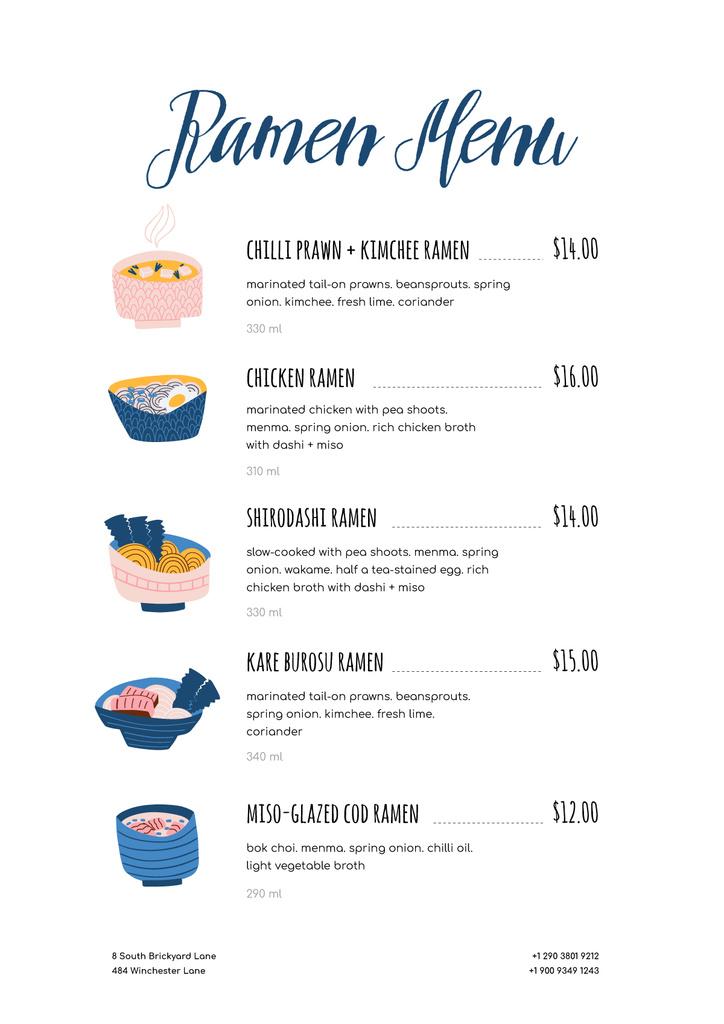 Ramen restaurant noodles — ein Design erstellen