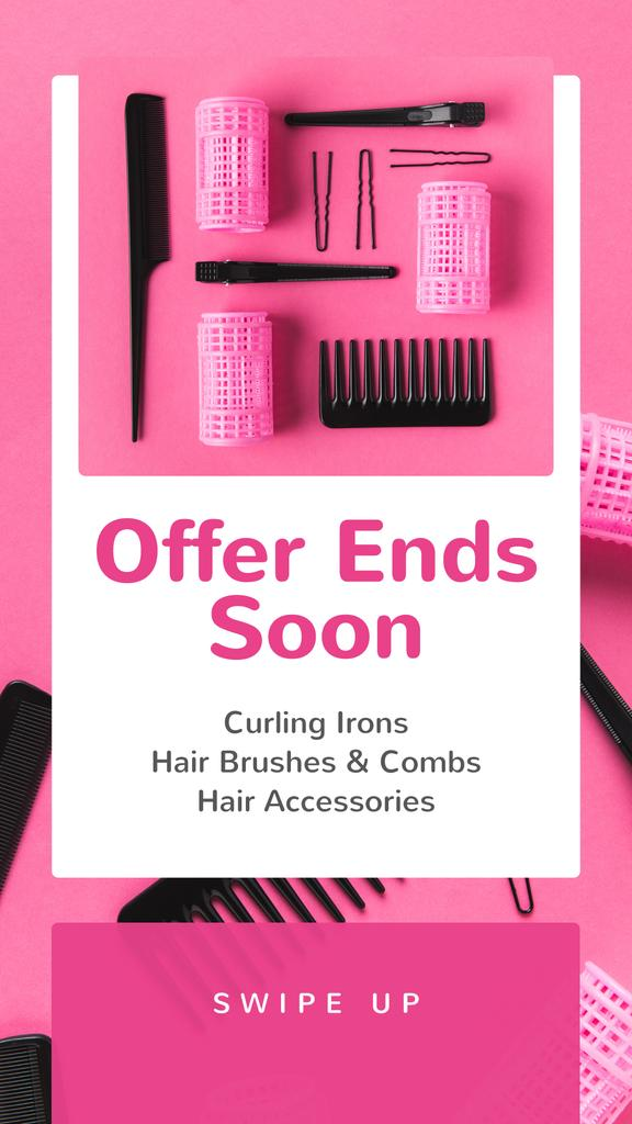Hairdressing Tools Sale in Pink — Modelo de projeto