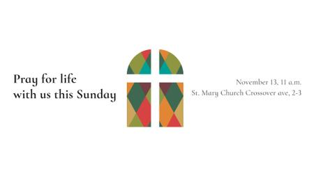 Plantilla de diseño de Church Invitation on Stained Glass window FB event cover
