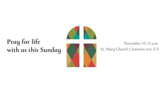 Plantilla de diseño de Church Invitation on Stained Glass window FB event cover
