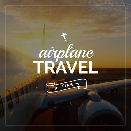 Airplane travel tips poster Instagram Tasarım Şablonu
