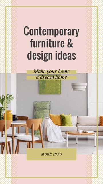 Modèle de visuel Cozy interior in light colors - Instagram Story