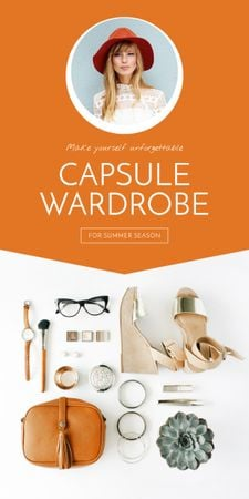 Modèle de visuel Capsule Wardrobe Flat Lay in Beige - Graphic