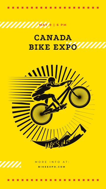 Cyclist jumping on bike Instagram Story – шаблон для дизайну