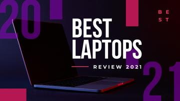 Electronics Review Open Laptop on Black