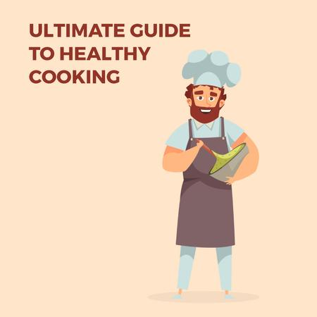 Chef cooking meal Animated Post Modelo de Design