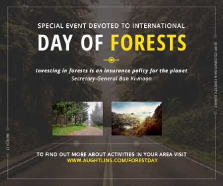 Template di design Special Event devoted to International Day of Forests Large Rectangle