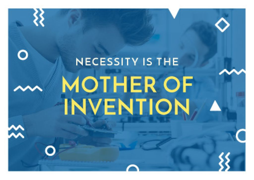 necessity is the mother of invention poster — Crear un diseño