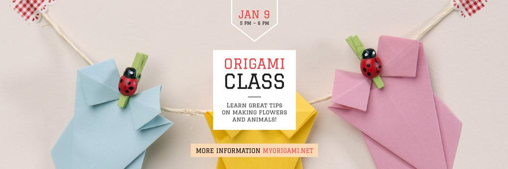 Origami Classes Invitation Paper Garland — Crear un diseño