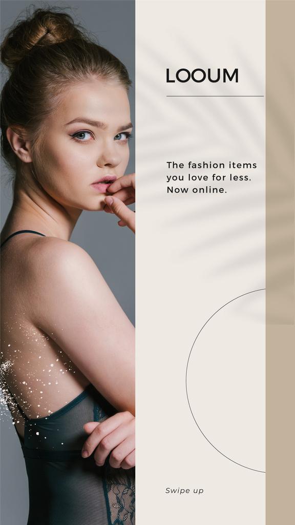 Fashion Sale with Young melancholy Girl — Создать дизайн