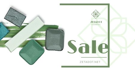 Szablon projektu Cosmetics Sale with Eyeshadow Palette Facebook AD