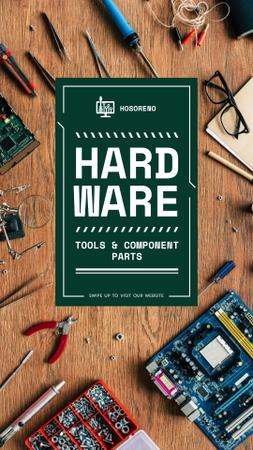 Hardware Offer with tools Instagram Story Modelo de Design