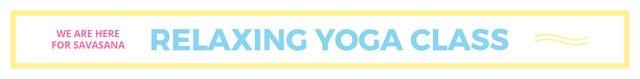 Relaxing yoga class Leaderboard – шаблон для дизайну
