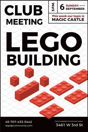 Plantilla de diseño de Lego Building Club Meeting Tumblr