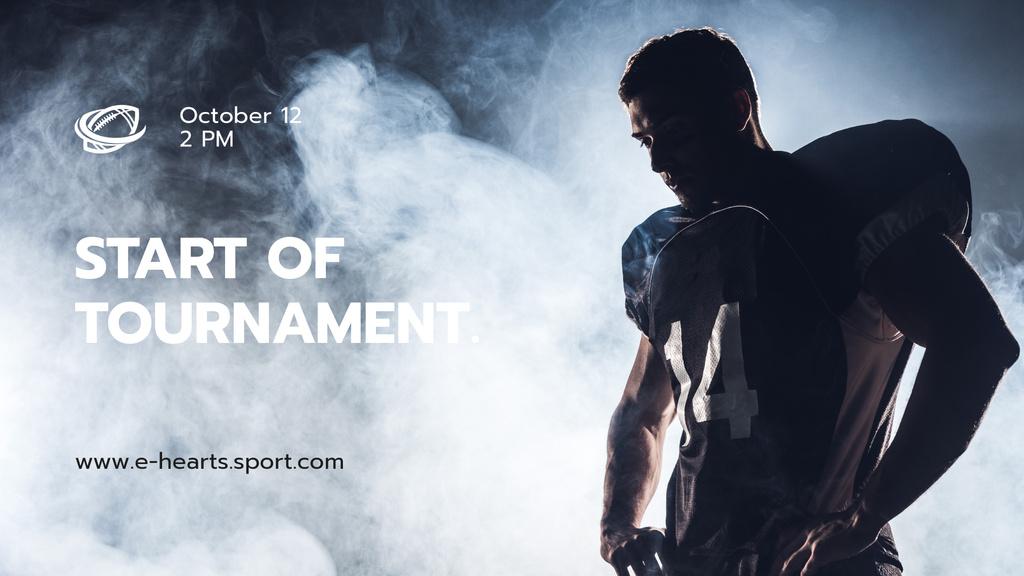 Stream Ad with Man in Sports Uniform — Crea un design