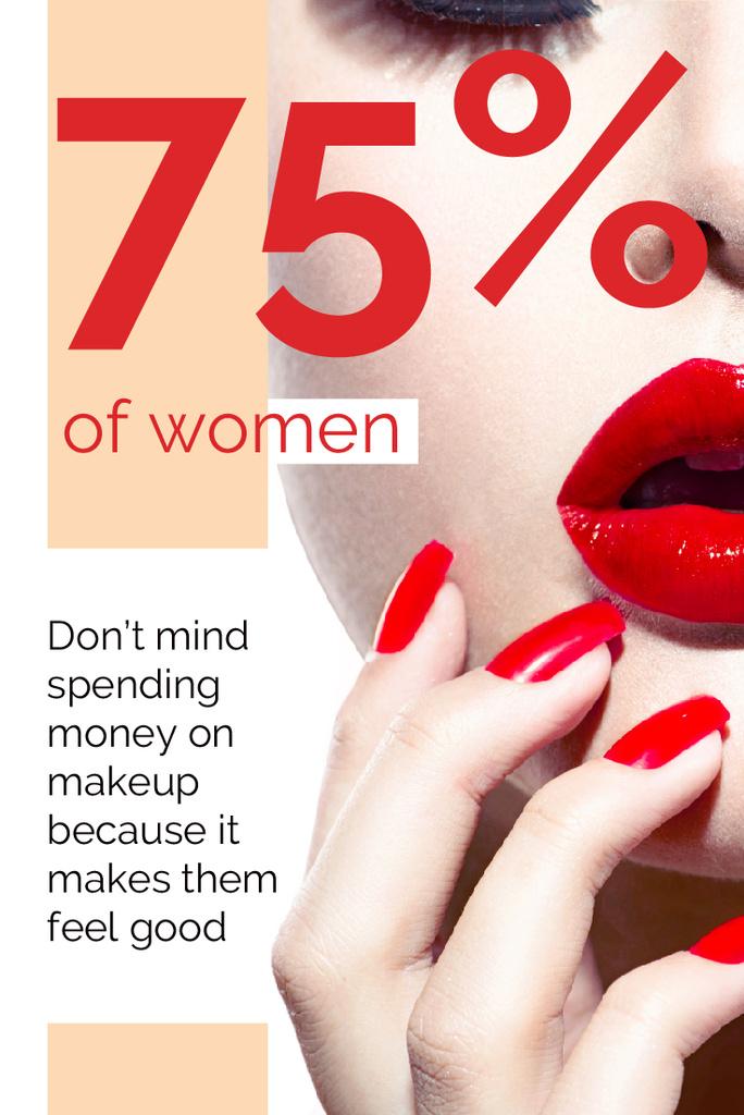 Citation about women makeup — Create a Design
