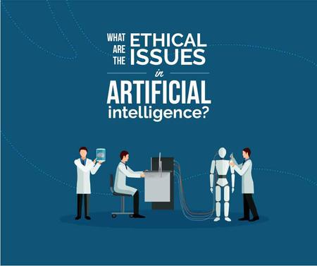 Plantilla de diseño de Ethical issues in Artificial Intelligence concept Facebook