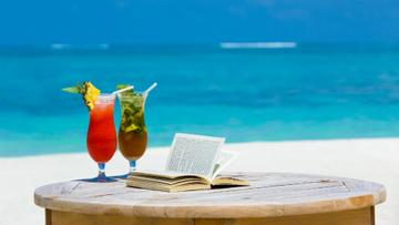 Vacation Theme Cocktail at the Beach