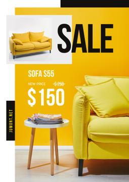 Yellow cozy Sofa Sale