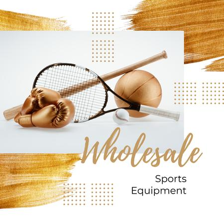 Modèle de visuel Sports and Games Equipment Sale in Golden - Instagram AD