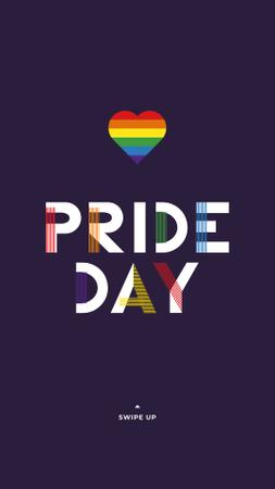 Template di design LGBT pride Day Greeting Instagram Story