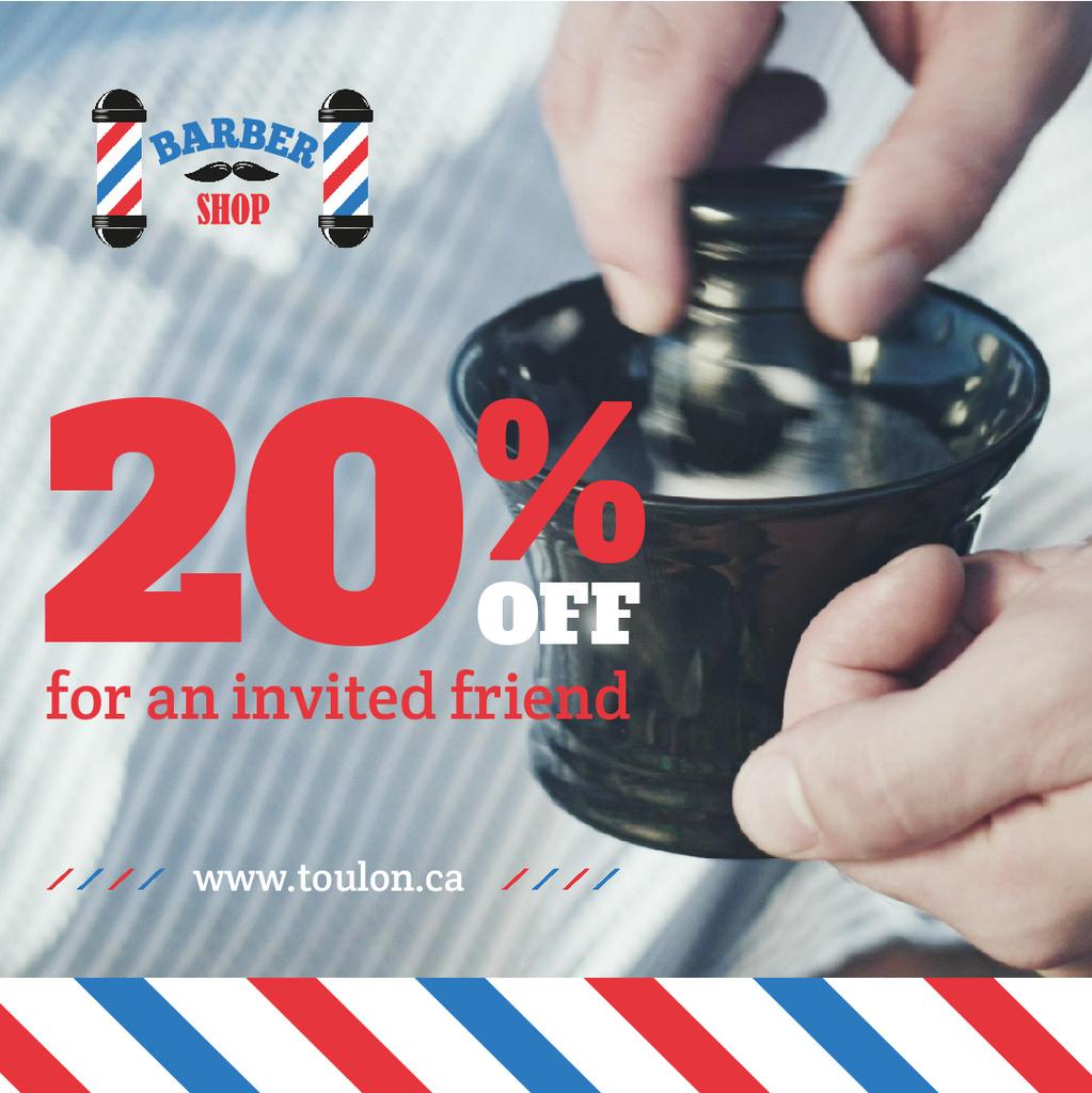 Barbershop Promotion Barber Making Foam — Створити дизайн
