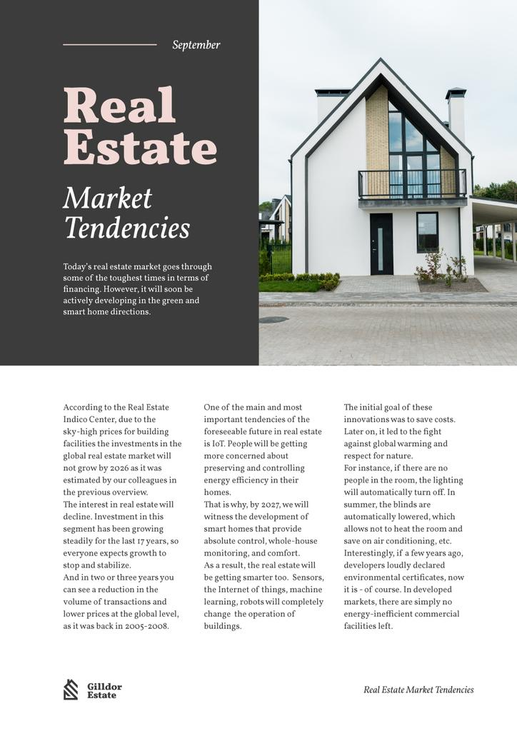 Real Estate Market Tendencies with Modern House — ein Design erstellen