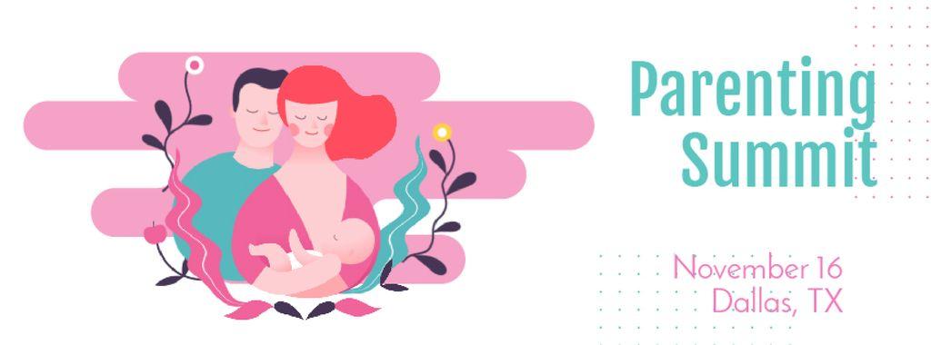 Loving Parents with Newborn Baby | Facebook Video Cover Template — ein Design erstellen