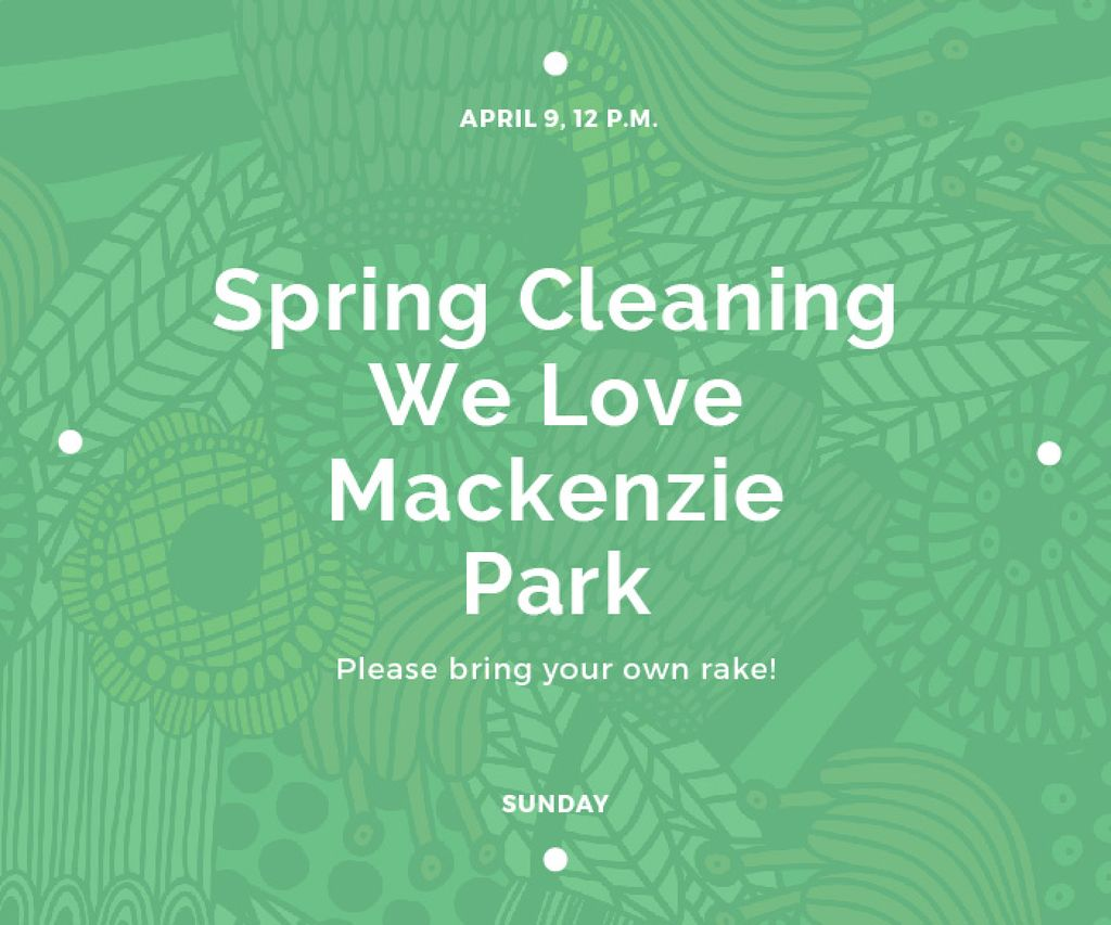 Spring cleaning in Mackenzie park — Создать дизайн