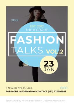 Fashion talks Announcement with Girl in Hat