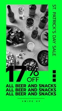 St. Patricks' Day Offer with Drinks on the table