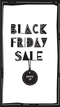 Black Friday sale with tag