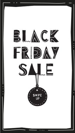 Plantilla de diseño de Black Friday sale with tag Instagram Story