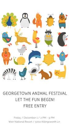 Designvorlage Georgetown Animal Festival für Graphic