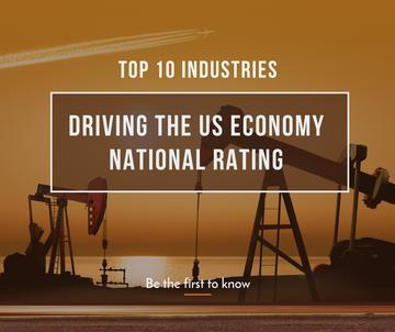 top 10 industries driving the US economy natural rating poster