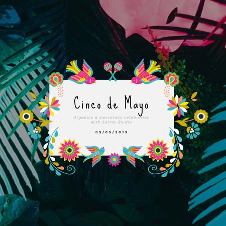 Cynco de Mayo Mexican holiday Animated Post Modelo de Design