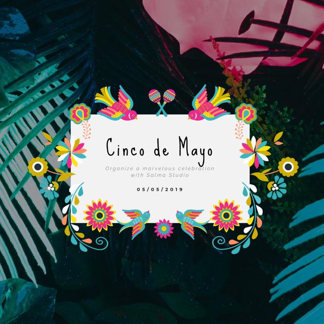 Cynco de Mayo Mexican holiday Animated Post Modelo de Design