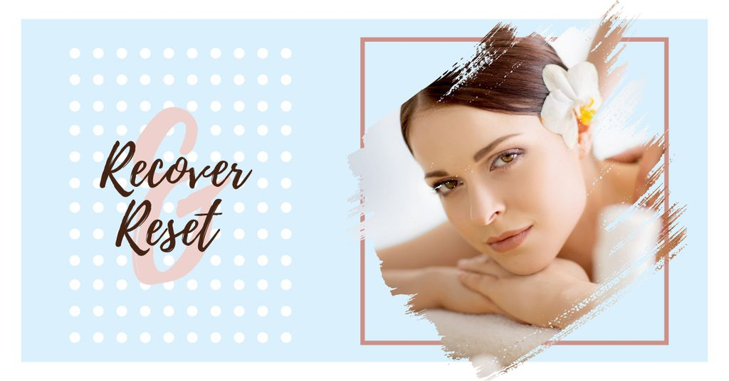 Woman relaxing in spa — Create a Design