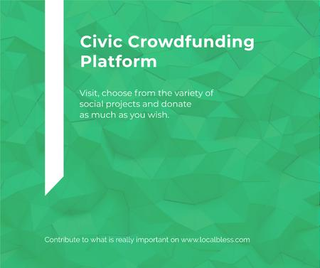 Crowdfunding Platform ad on Stone pattern Facebook – шаблон для дизайну