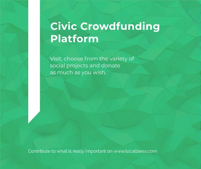 Crowdfunding Platform ad on Stone pattern Facebook Modelo de Design