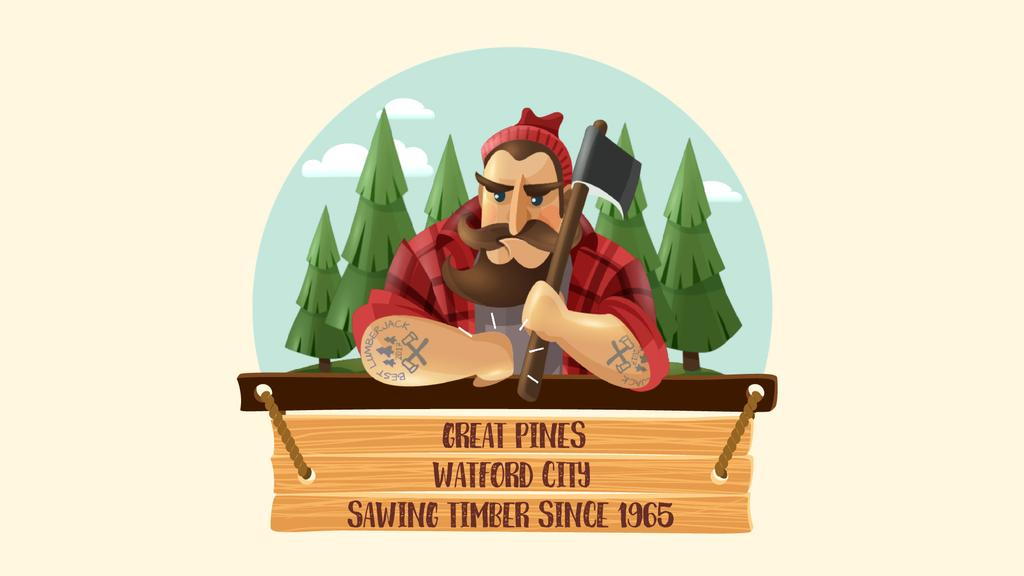 Timber Industry Ad Lumberjack in Forest — Create a Design