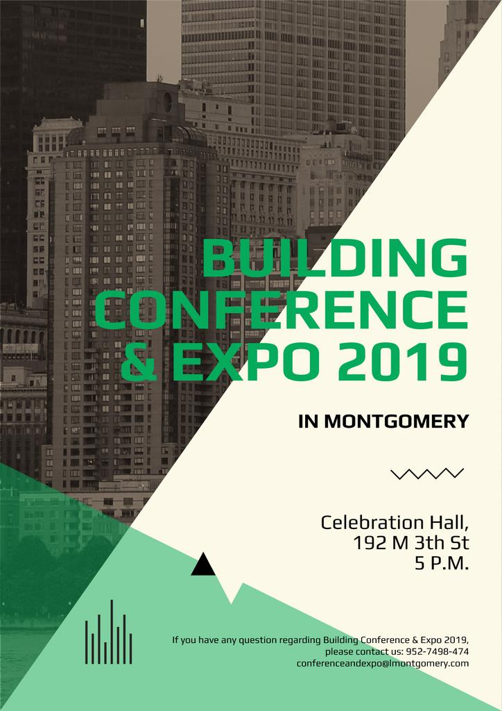 Real estate exhibition and conference poster — Create a Design