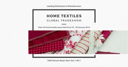 Modèle de visuel Home textiles global tradeshow - Facebook AD