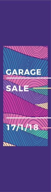 Garage sale poster Skyscraper Modelo de Design