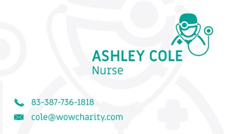 Nurse Services Offer Business card Modelo de Design