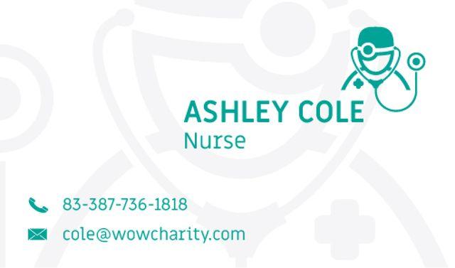 Ontwerpsjabloon van Business card van Nurse Services Offer