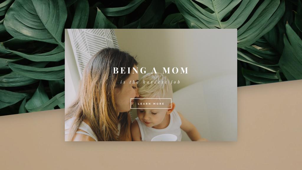 Child with loving mother — ein Design erstellen