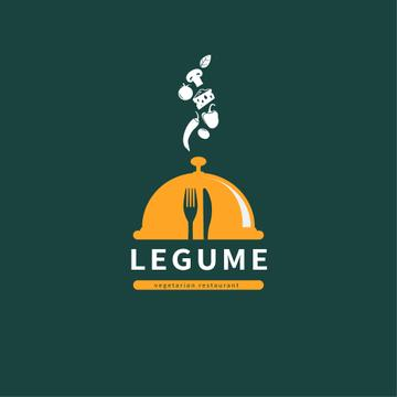 Restaurant Promotion Food and Cloche | Logo Template