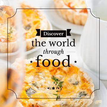 discover the world through food poster
