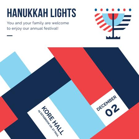 Plantilla de diseño de Happy Hanukkah celebration invitation Instagram AD